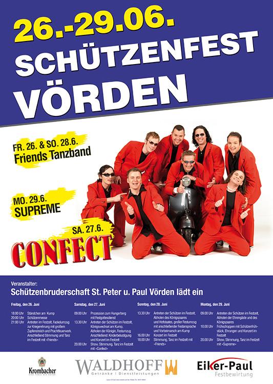 Plakat zum Schützenfest 2009